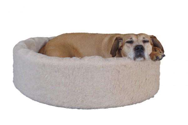 Kuschelkorb aus reiner Schafwolle - das NaturoTherm Hundebett
