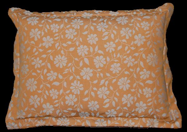together Kuscheldecke, orange mit Blumenmuster