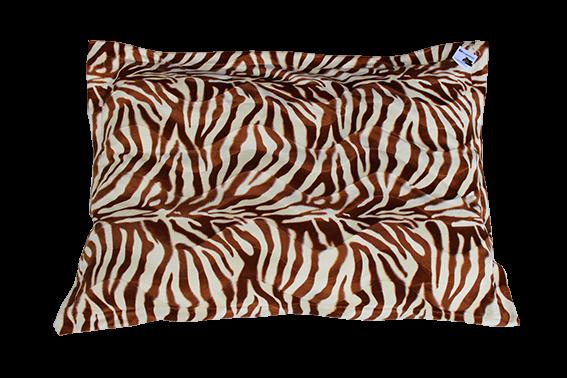 together Kuscheldecke, Zebradesign, kuscheliger braun-weißer Stoff