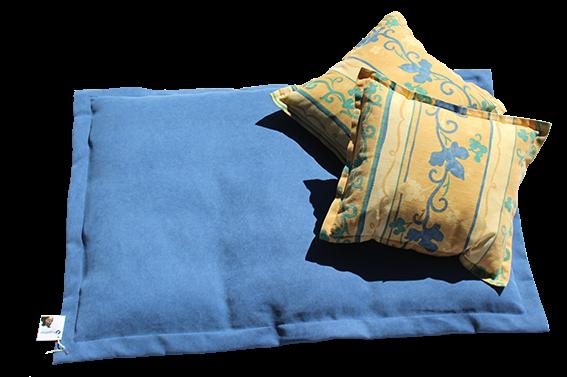 together Kuscheldecke, blau mit 2 Kissen im Set